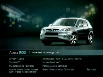 Acura RDX: Advanced Technology Tour