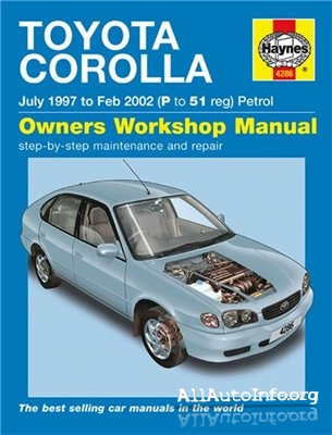 Toyota Corolla 1997-2002 Workshop Manual.