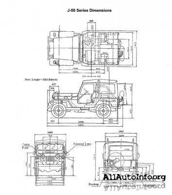Mitsubishi Jeep J series Service Manual