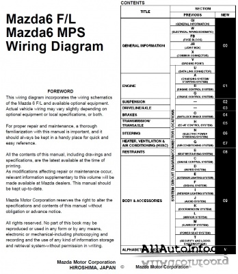 Mazda 6, MPS (GG) Wiring Diagram