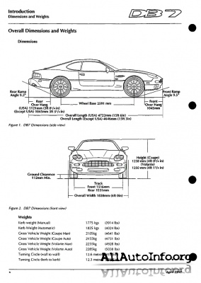 Aston Martin DB7 i6 Service Manual (1994-1998)