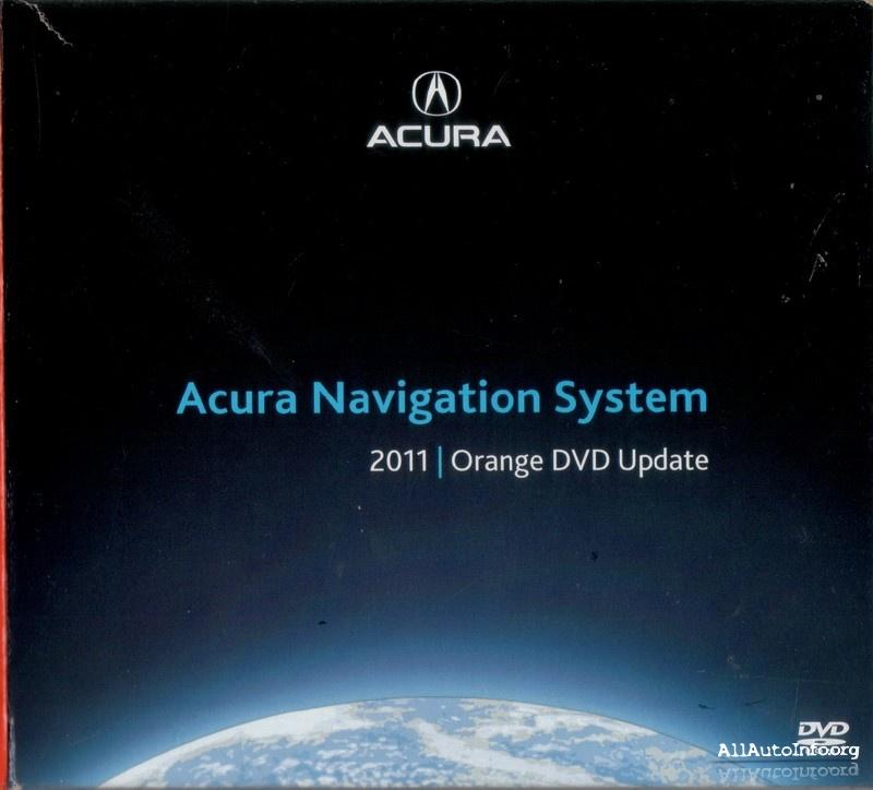 Acura Navigation System 2011 ORANGE DVD Update 3.A0
