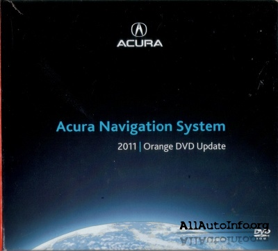 Acura Navigation System 2011 ORANGE DVD Update 3.A0