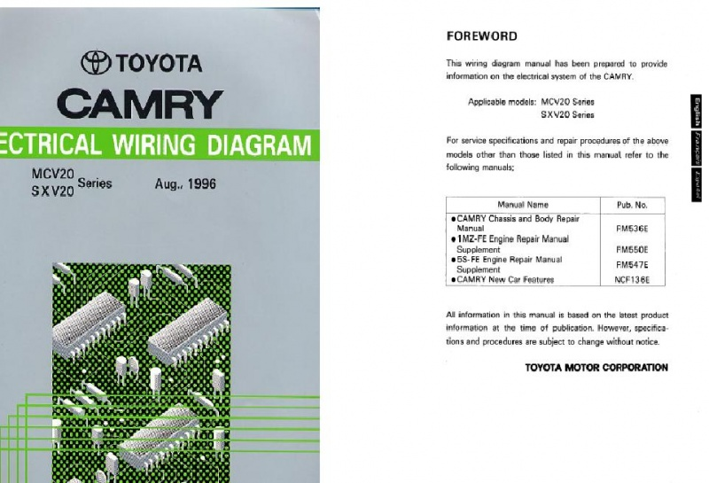 Toyota Camry Service Manuals