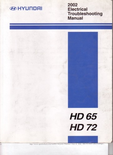 Hyundai HD65, HD72 Electrical