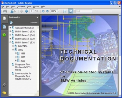 BMW Electrical Troubleshooting Manual & Technical Documentation of emission-related system (1996-2000)