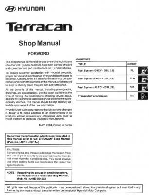 Hyundai Terracan 2002 и