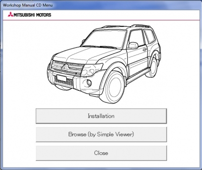 Mitsubishi Pajero IV Workshop Manual CD (2009)