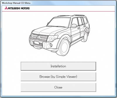 Mitsubishi Pajero 2013 Workshop Manual