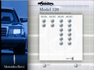 Mercedes-Benz W126 Service Manual Library