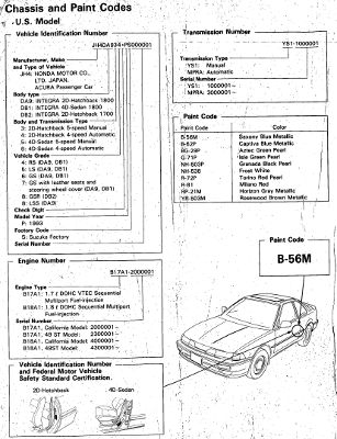 Acura Integra 1990-1993 Service Manual (DA9, DB1, DB2)