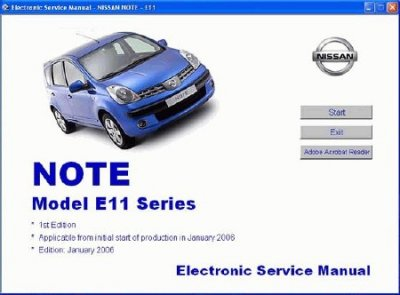 Nissan Note E11 Service Manual (ESM, 2006)