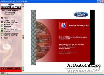 Ford USA Car Service Information 1992-2008