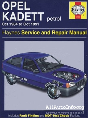 Opel Kadett E 1984-1991 Manual Repair