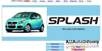Suzuki Splash Service Manual