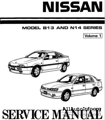 Nissan B13-N14. Factory Workshop Manual 1990.