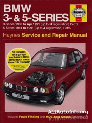 BMW 3 & 5 Series Repair Manual 1981-1991