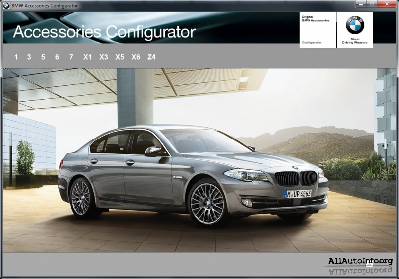 bmw accessories configurator 10 0 2010. Black Bedroom Furniture Sets. Home Design Ideas