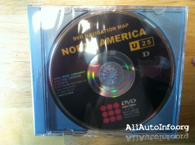 Toyota/Lexus DVD Navigation Map North America (U25)