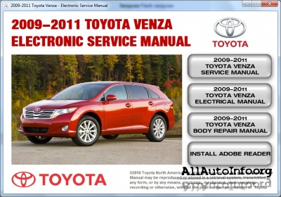 Toyota Venza Service Manual (2009-2011)
