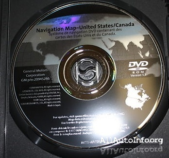 GM Navigation System Map DVD 2011
