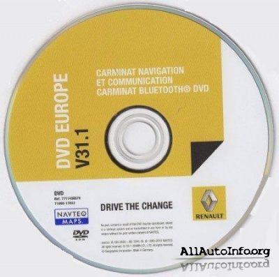 Renault Carminat Navigation Communication - Europe V32.1