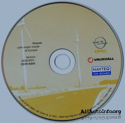 Navteq Opel Vauxhall 2010-2011 EHU/CD70 Europe