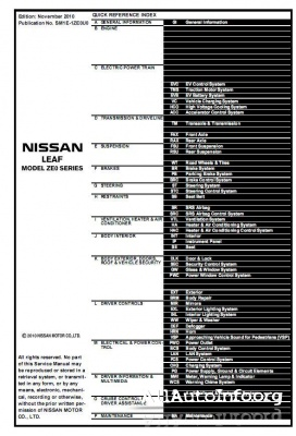 Nissan Leaf ZE0 Service Manual (2011)