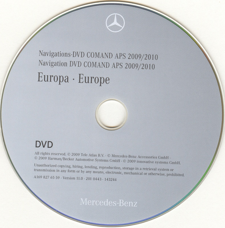 mercedes comand aps dvd europe 2009 2010 ntg2. Black Bedroom Furniture Sets. Home Design Ideas
