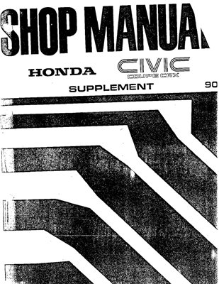 Honda Civic Coupe CRX Workshop manual 1988-1990 г.