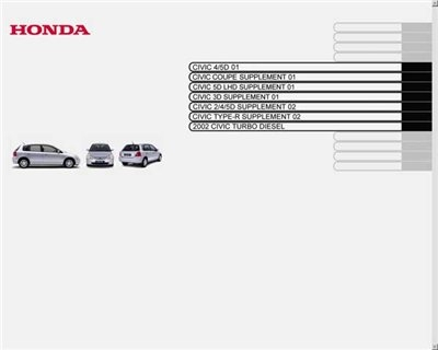 Honda Civic 4D, 5D Service Manual (2001-2005)