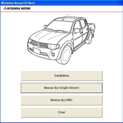 Mitsubishi L200 Workshop Manual CD (2009-2010)