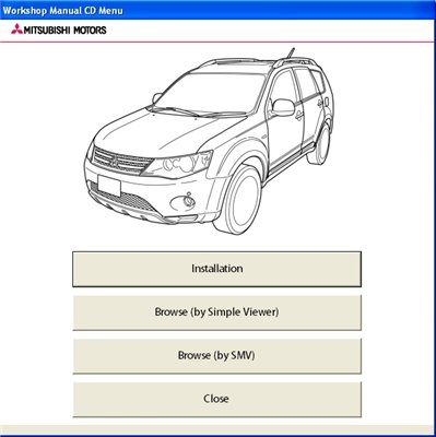 Mitsubishi Outlander 2007 Service Manual