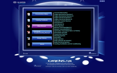 Kia Carens UN Service Manual (2006-2008)
