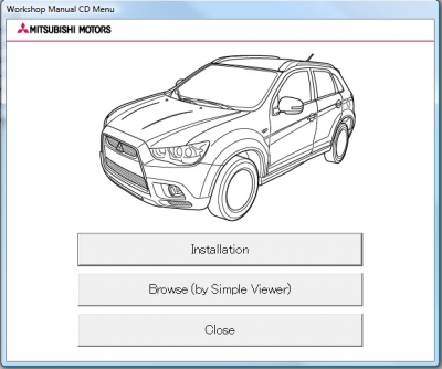 Mitsubishi ASX 2013 Workshop Manual (MUT III)