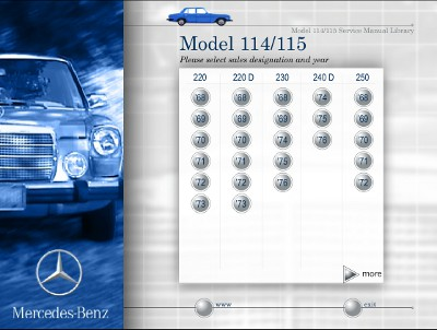 Mercedes-Benz Model W114, W115 Service Manual Library