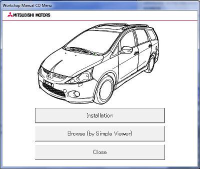 Mitsubishi Grandis Workshop Manual CD