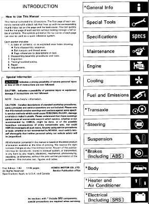 Acura Integra 1994-1997 Service Manual