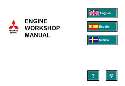 Mitsubishi Engine and Transmission Workshop Manuals