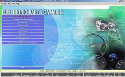 Toyota Electronic Parts Catalog System EPC 3 04/2017